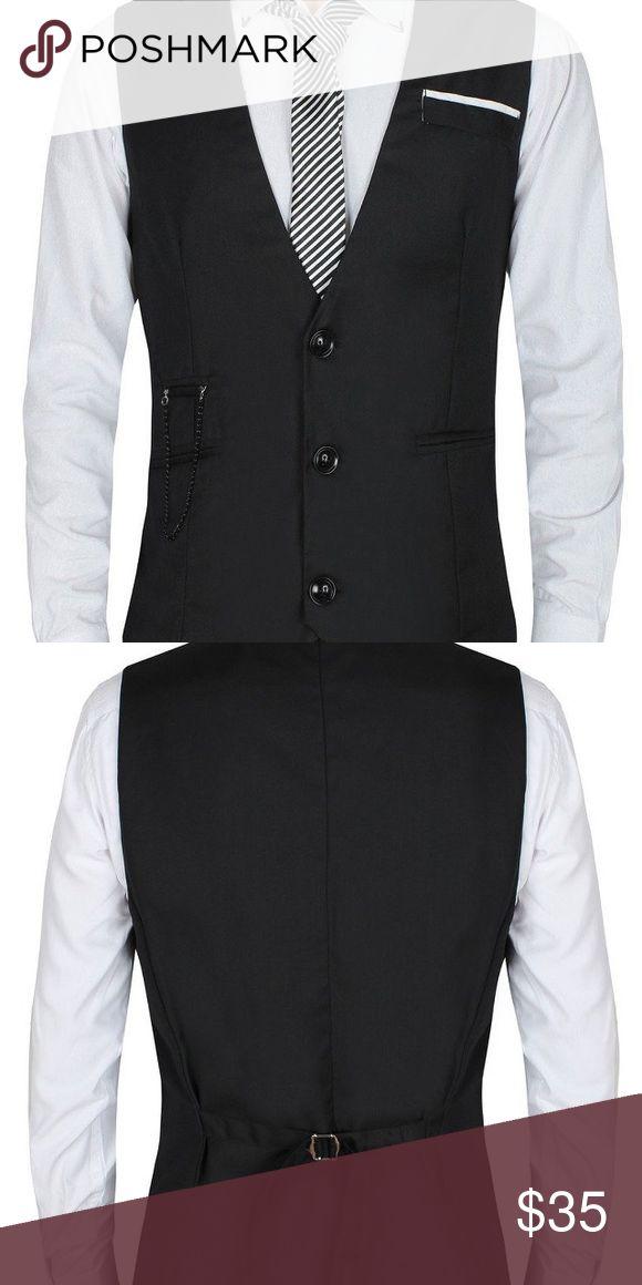 Black waistcoat Black waistcoat in black, size medium, brand new with tags Jackets & Coats Vests