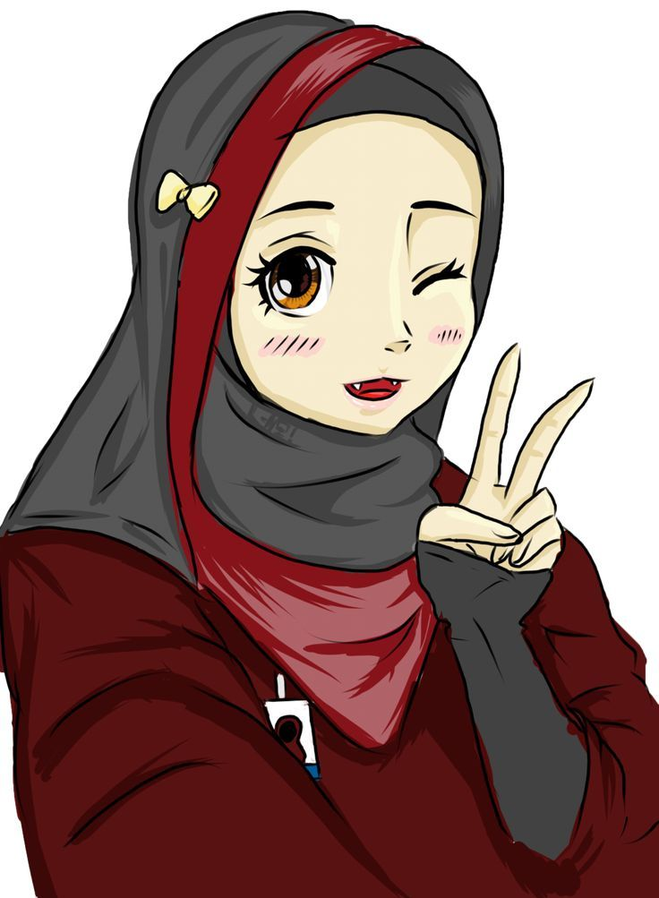 Hijab Drawing Hijab Anime Drawing Related Keywords Suggestions Hijab Anime Tutorial Gambar Kartun Drawing Gambar