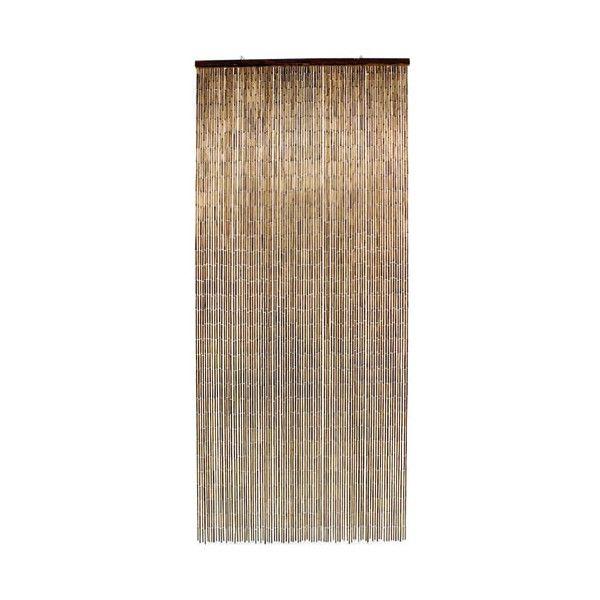 Rideau de porte Bambou - 90x200 cm - acajou