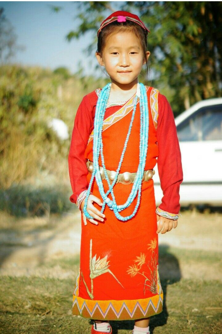 Traditional dress of Tagin tribe and it's worn on the day
