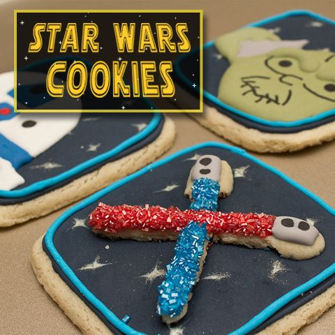 May the 4th be with you! Star Wars Double-Decker Light Saber Cookies