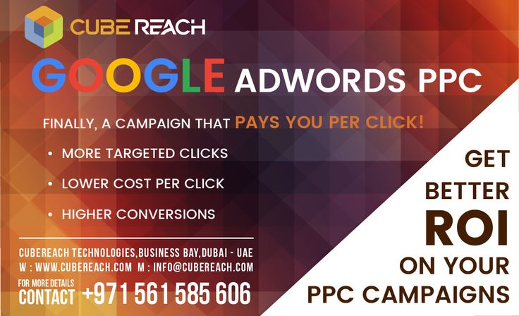 Get upto 300% ROI on your Google Adwords Budget Return On Investment (ROI) = Profit / Cost. Our expertise on SEO & Adwords can get you upto 300% ROI  Finally a campaign that will pay YOU for every click. Take your paid campaigns to the next level. We get you MORE Targeted Clicks, LOWER Cost per Click, Higher Conversions. CALL US TODAY! BUILD YOUR SALES MACHINE NOW!  0561 585 606  #ppcservices #googleadwords #CubeReach #searchengineoptimization