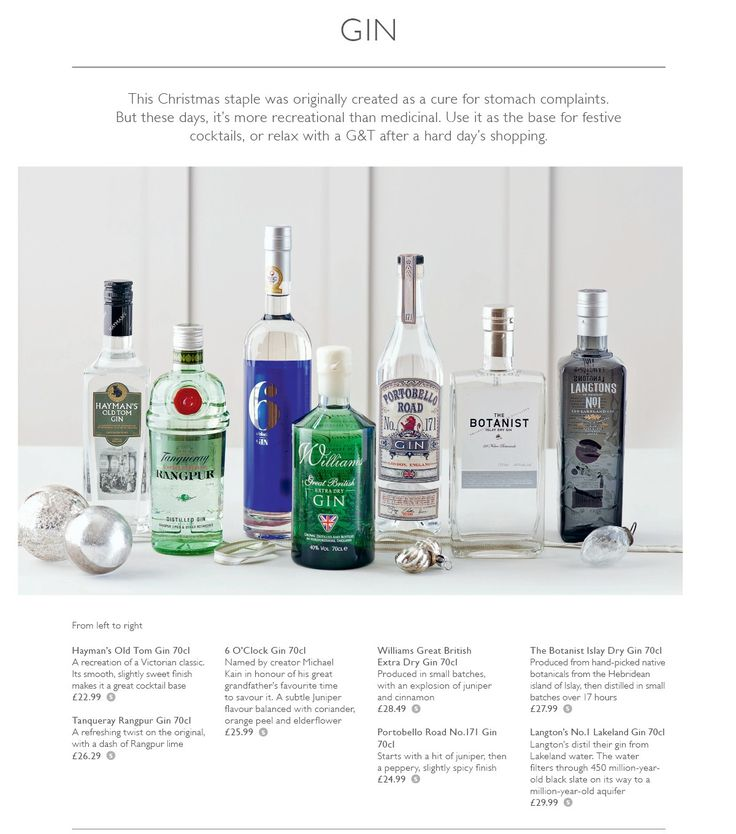 Gin image xmas book - Booths