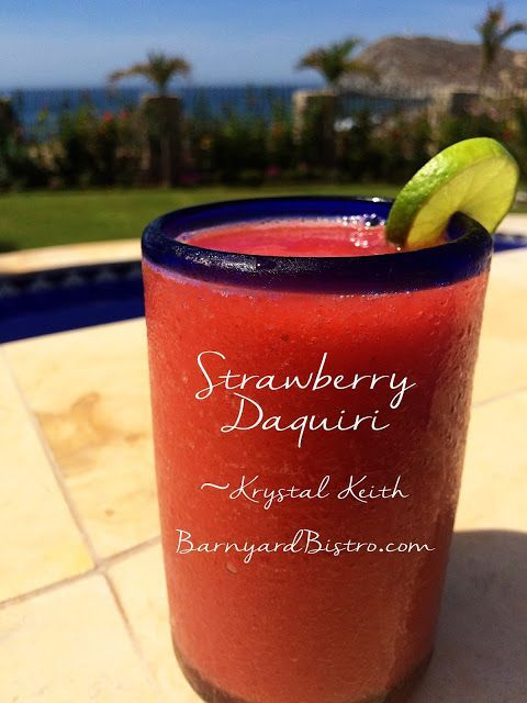 Krystal Keith's recipe for the perfect from-scratch Strawberry Daquiri - TheBarnyardBistro.com