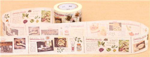 cookbook diary recipe mt Washi Masking Tape deco tape
