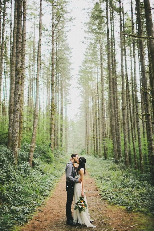 Joel was just telling me how be wants a wedding like this! In the woods but with a view of all the mountains surrounding us.