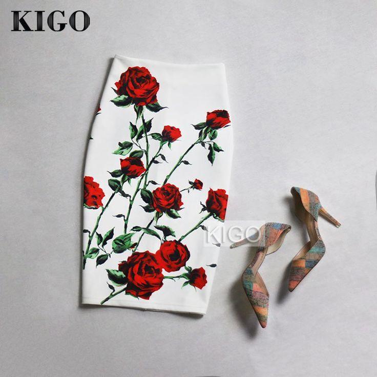 Encontrar Más Faldas Información acerca de KIGO Estilo Europeo y Americano de…