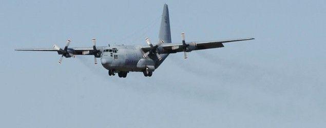 U.S. military to begin Liberia Ebola deployment; KC-130 Stratotanker (AP)