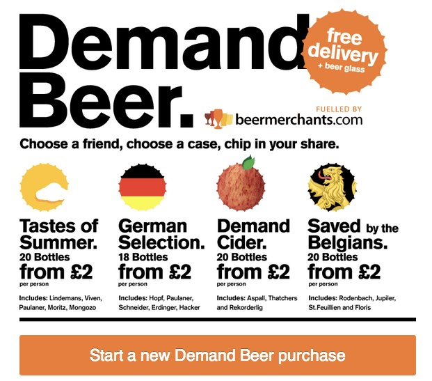 Demand Beer is a handy app that lets you share the cost of buying beer and cider for friends directly within Facebook. We've joined the crew of developers and were responsible for the back-end side of the project to make sure the purchasing process runs nice & smoothly.Currently we're also working hard to launch the stand-alone version of the app (integration with payment gateway, technologies: Ruby on Rails, Backbone.js). Ready to Roll? Launch the app! http://demandbeer.com!