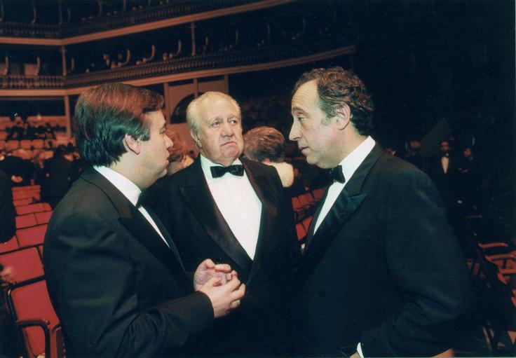 Com António Guterres, hoje secretário-geral da ONU, e Marcelo Rebelo de Sousa, hoje Presidente da República