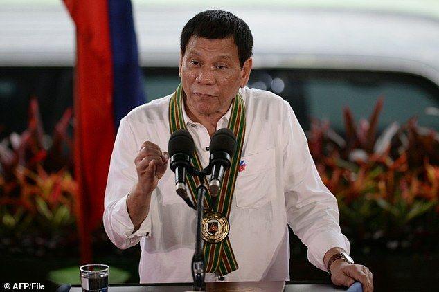 Philippine President Rodrigo Duterte, 71, won May elections in a landslide on a pledge to eradicate drugs