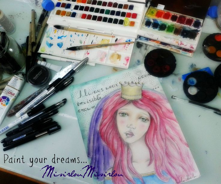 watercolors,pencils and markers https://www.facebook.com/pages/Misirloumisirlou/159703494187755?ref=hl