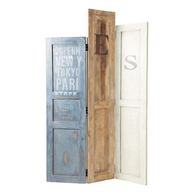 Separé con pannelli in legno riciclato DOORS