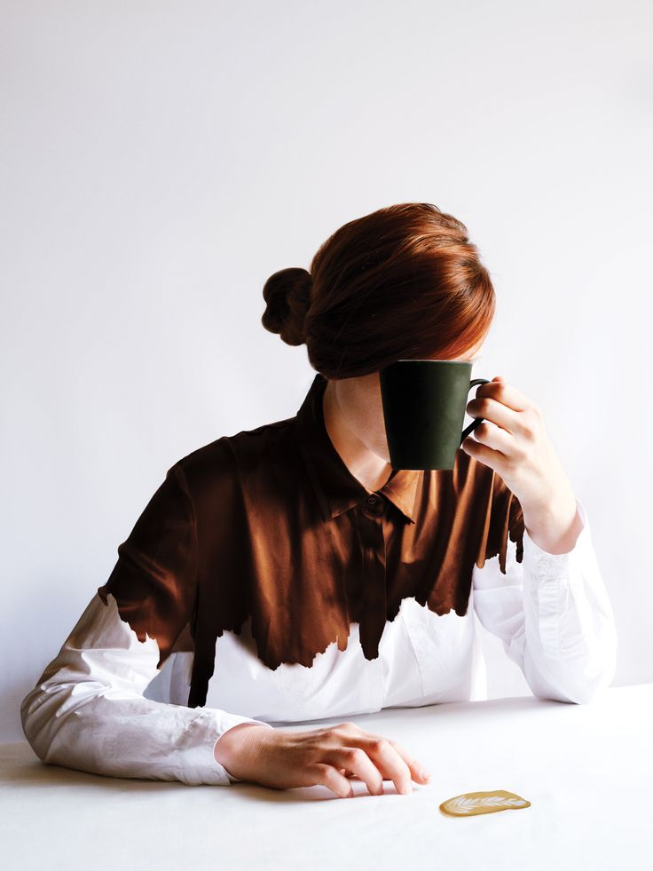 """THE WRONG SIDE OF THE BED - """"Your clandestine attempts at caffeinating are thwarted when you pour most of it down your only clean shirt"""""""
