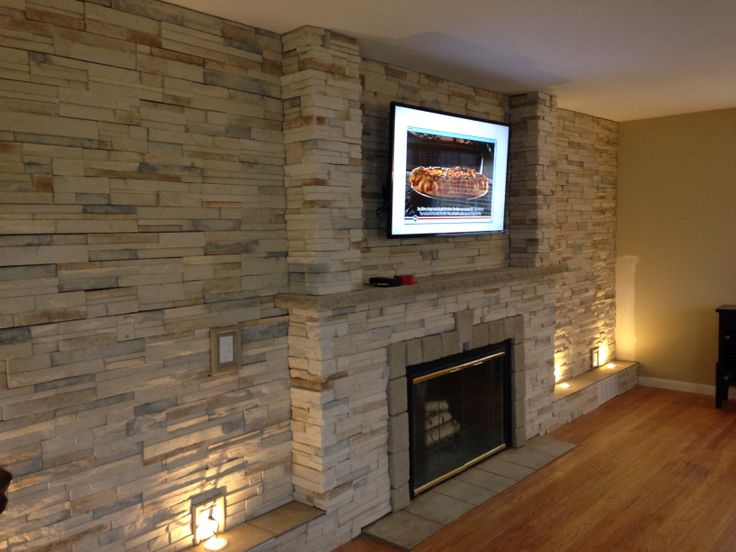 My Stone Wall In Living Room WallsAccent WallsWall IdeasFireplaces
