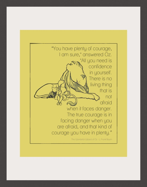 85x11 Cowardly Lion Print by artfullyamber on Etsy, $20.00