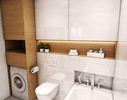 Aranżacja mieszkania przy ul. Małomiejskiej w Gdańsku - Mała łazienka, styl nowoczesny - zdjęcie od Pracownia Projektowa MONO