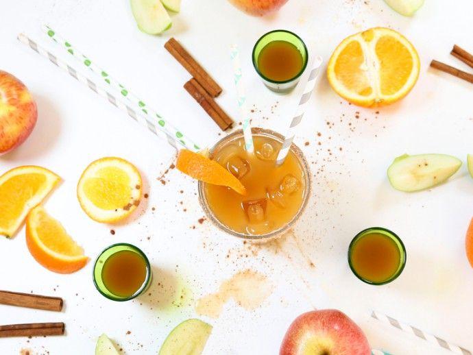 Cocktail explosif de cidre et de tequila pour un mariage automnal