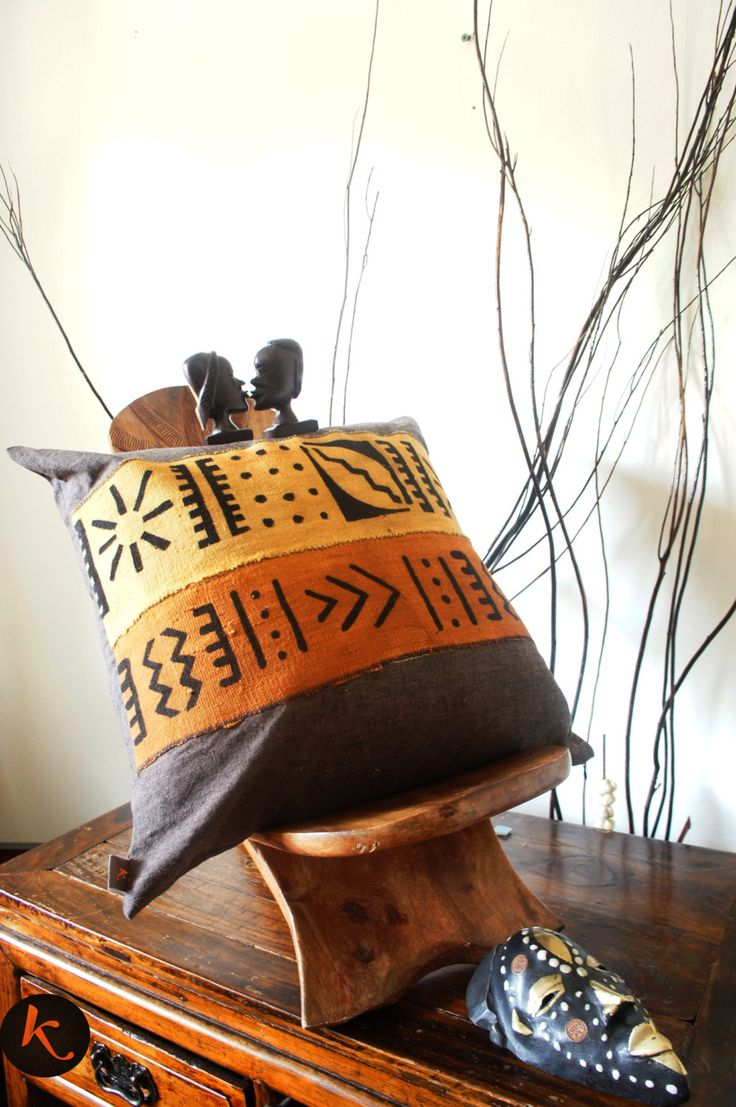 African multi strip Mud cloth pillow cover by KLEMYAbyklink, $69.99