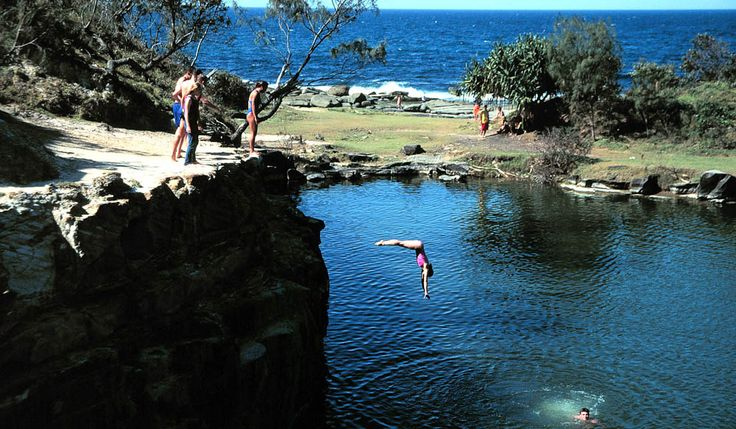 Blue Pool, 10km south of Yamba, NSW