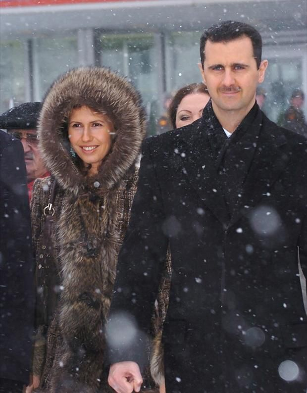 Syrian President Bashar al-Assad and his wife Asma in Moscow. Description from azjewishpost.com. I searched for this on bing.com/images