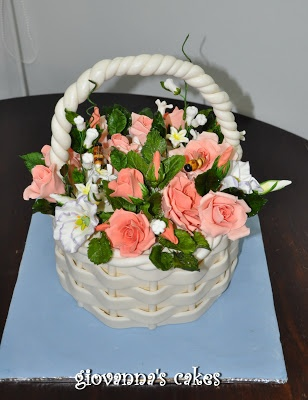 Giovanna S Cakes Flower Basket Cake Birthday Cakes 2