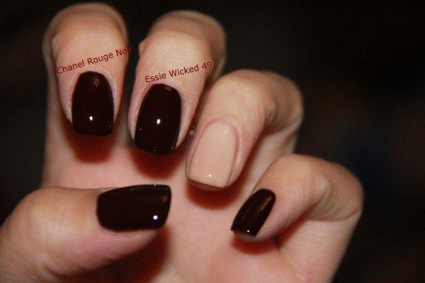 Rouge Noir vs Essie Wicked