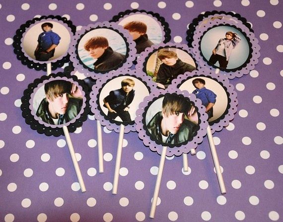 Justin Bieber Cupcake Toppers