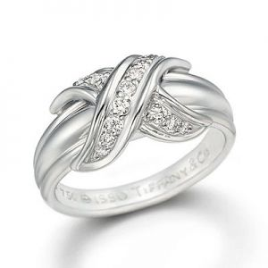Charming tiffanys signature ring with diamonds