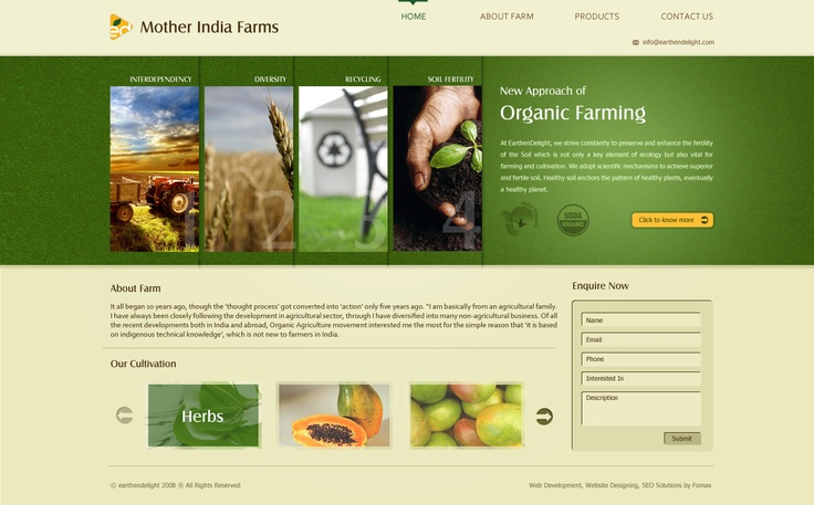 Fomaxtech design concept for Motherindia farms.