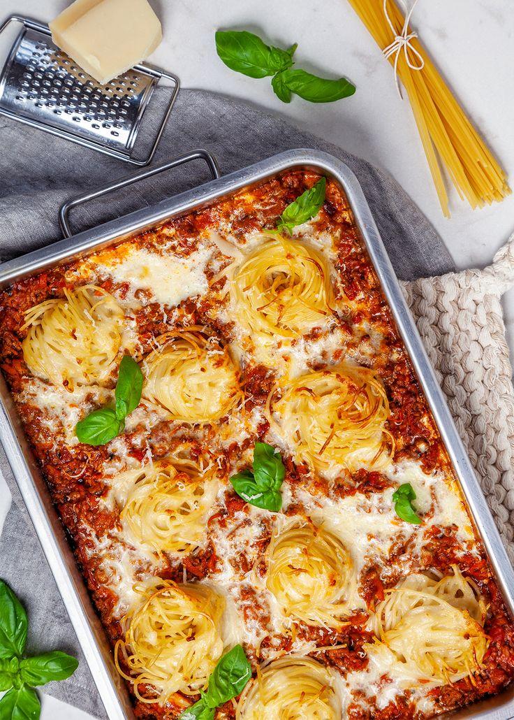 Recept Pa Kramig Kottfarsgratang Med Spaghetti Och Osttacke
