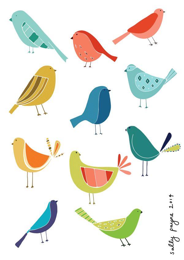 Illustration birds uly sallypayne