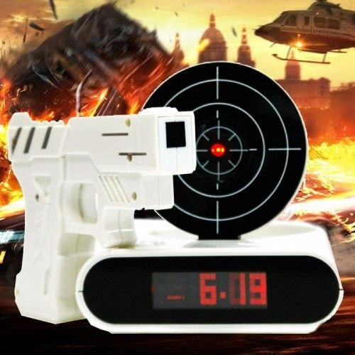 Gun Alarm Clock - Yellow Octopus