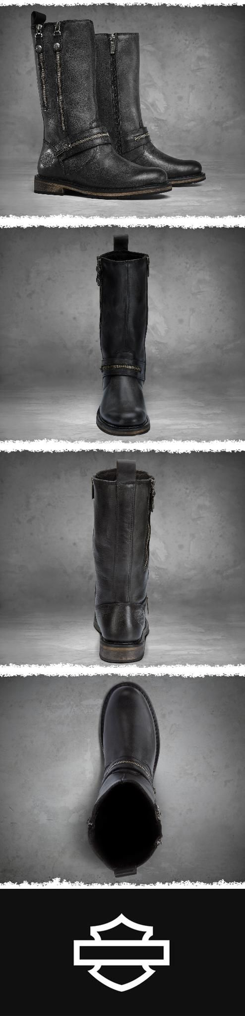 Complete your look from head to toe. | Harley-Davidson Women's Sackett Boots - Black #MothersDay