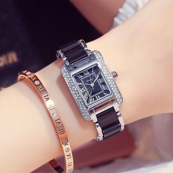 KIMIO KW6036S Luxury Ladies Quartz Watch Fashion Rhinestones Rectangle Dial Women Dress Watch at Banggood  #women #men #fashion #jewelry #watches