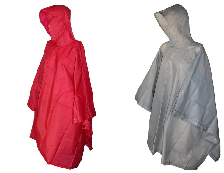 Totes Hooded Pullover Rain Poncho with Side Snaps (Pack of 2)