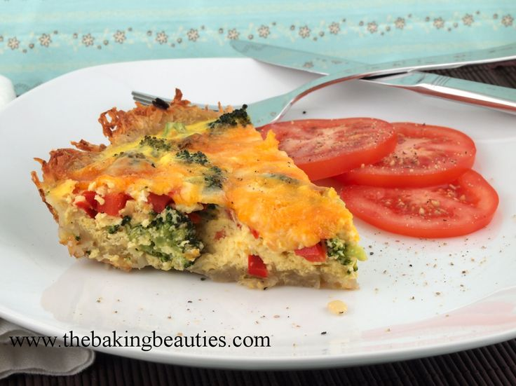 Broccoli and Cheese Quiche in a Potato Crust Looks good but the eggs are curdled. I would add Canadian cream cheese and parmesan to this quiche! #simplepleasures #CDNcheese