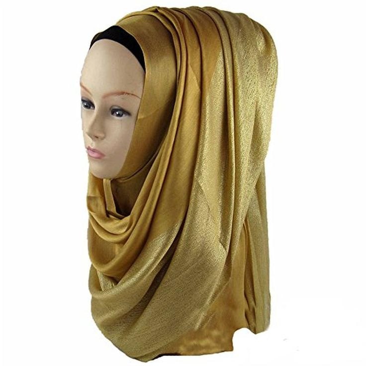 Ashlen Ladies Elegant Muslim Hijab Solid Hat Wrap Casual head scarves Shawl Wrap - Brought to you by Avarsha.com