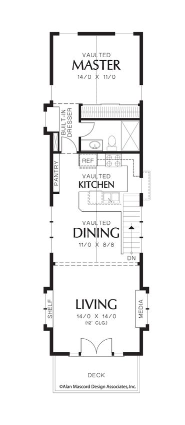 1000 ideas about narrow house plans on pinterest narrow Narrow contemporary house plans