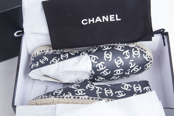 Auth 15SS CHANEL ESPADRILLES PRINTED LAMBSKIN 36 NEW BOXED #CHANEL #Espadrilles