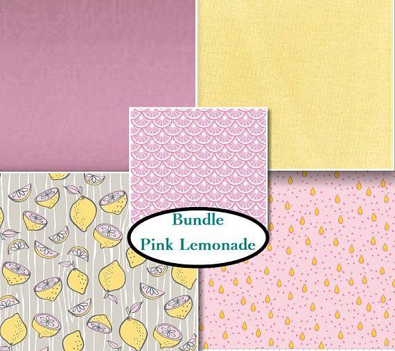 Kit 5 motifs Pink Lemonade citron Choisir votre format