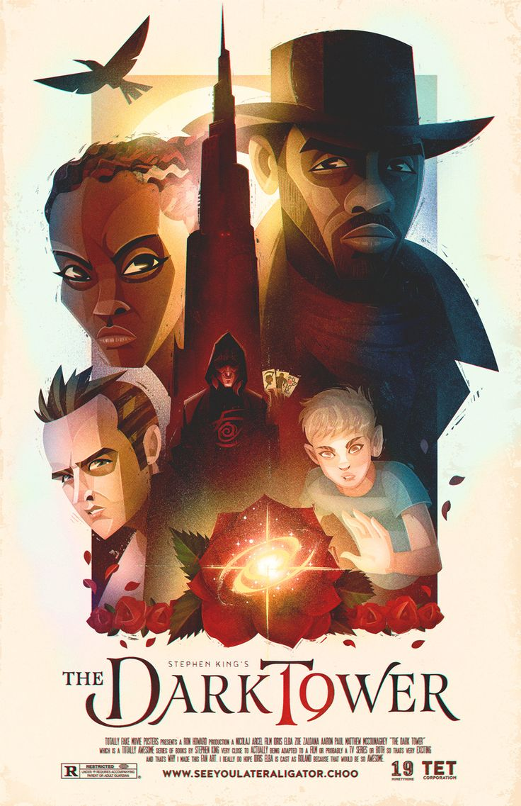 """lerms: """"A Fan-Art Poster Illustration for a possible The Dark Tower Series film and/or tv-series adaptation. This series of books by Stephen King is one of my all time favorite pieces of fiction, and..."""