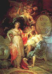Francisco de Goya  Alegoría de la villa de Madrid (Museo Municipal de Madrid).