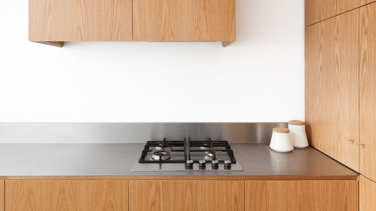 cooktop integrated into stainless steel bench - Google Search
