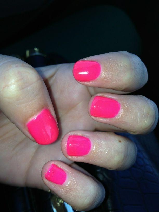 Neon Gelish manicure