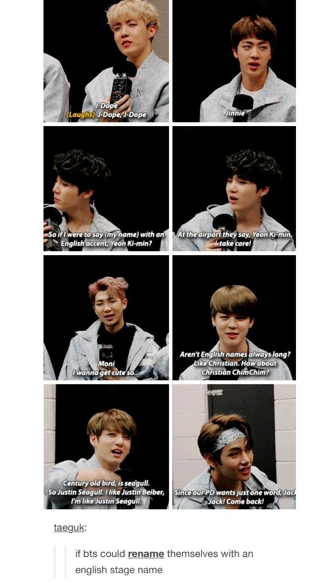 Bts And Their English Name Bts Memes Bts Fangirl