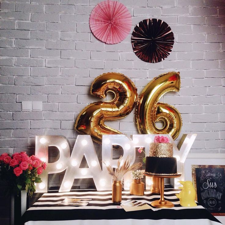 Party everyone!  #novolights #marquee #light #party #decor #golden #pink