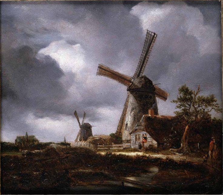Jacob van Ruisdael - Landscape with Windmills near Haarlem (1650-2)