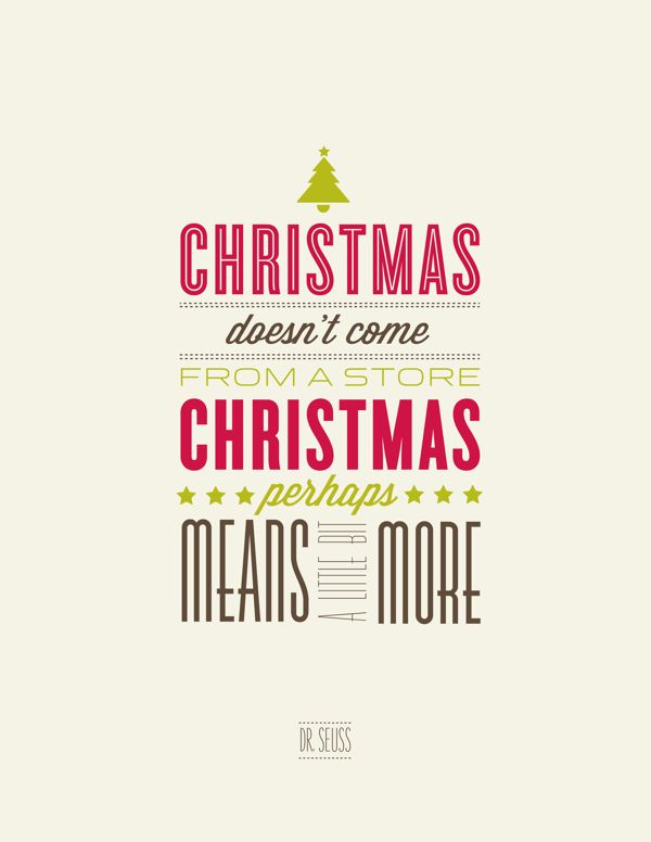 Christmas doen't come from a store #quote