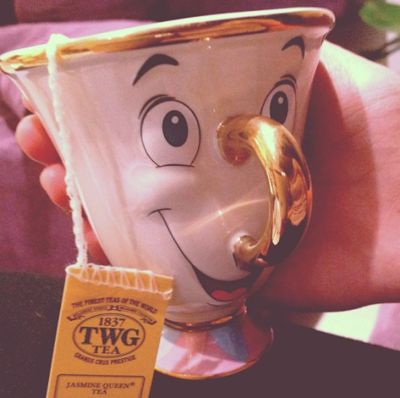 You could never start your day with a frown on your face with this tea cup!